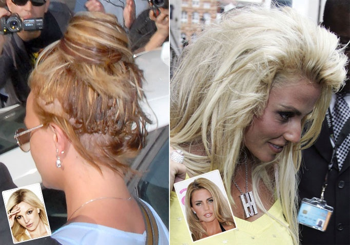 Fashion week Bad hair celebrity extensions photo for woman