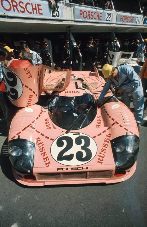 """The Porsche """"Pig"""" at Le Mans."""