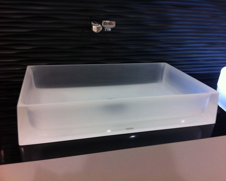 Luminist Rectangle Vessel Lavatory by Toto