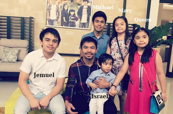 Manny Pacquiao`s with his kids
