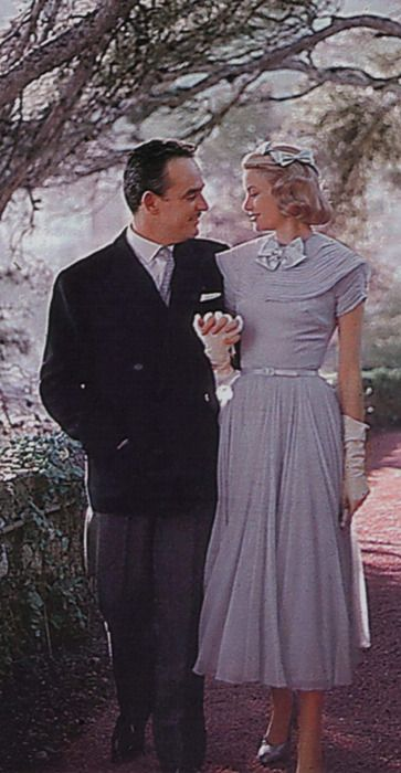 Prince Rainier III & Princess Grace of Monoco | The House of Beccaria# ~ I thought this dress was green!?