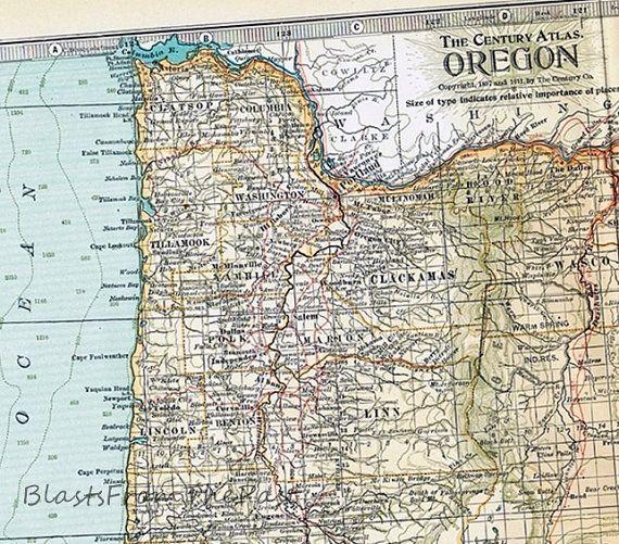 603 best maps images on pinterest vintage cards vintage for Atlas motors portland oregon