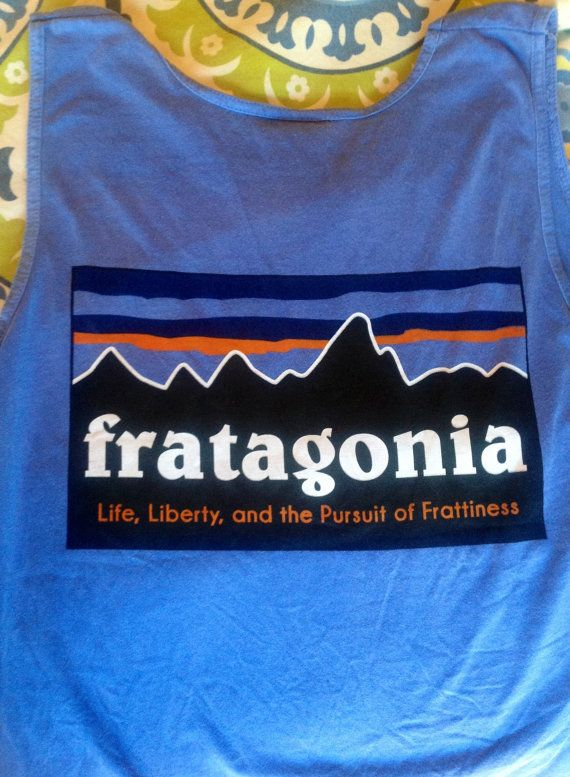 Blue Comfort Colors Fratagonia  tank by Joulesonjoules on Etsy, $25.00