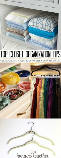 Closet Organization Tips that will make your life easier! the36thavenue.com #cleaning