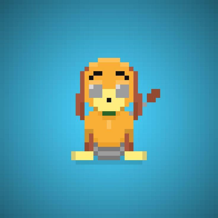 Slinky Dog (Jim Varney) from Toy Story Series #slinkydog #slinky #jimvarney #pierotiberi #dog #disney #pixar #disneypixar #andy #cartoons #cartonianimati #pixel #pixelart #16bit #instacartoon #toys #toystory #instatoys #giocattoli #toy #instagood #artist #theoluk #all_pixs #cute #awesome #instapix