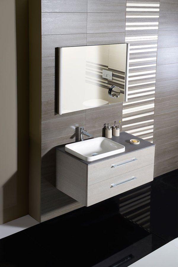 BRIX umyvadlová skříňka 90x27x45 cm, bílá/dub stříbrný, Nábytek, zrcadla a osvětlení, SAPHO E-shop