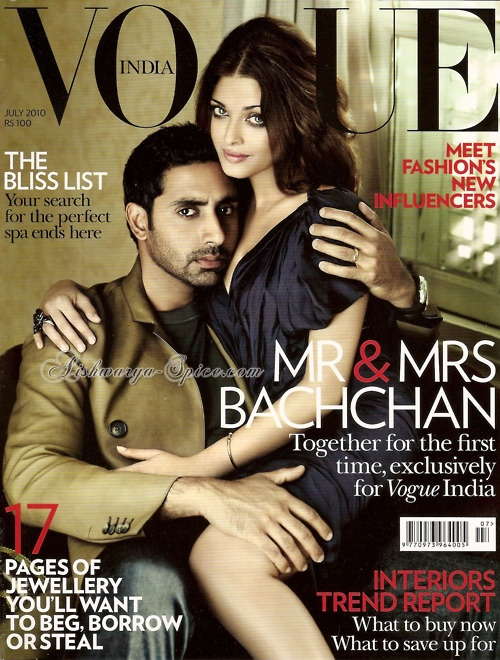 Aishwarya and Abhishek on Vogue India