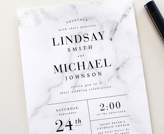 Best 25 wedding invitation card design ideas on pinterest this classic and modern design combines a marble texture with classic modern typography marble invitation gray and white wedding modern wedding stopboris Image collections