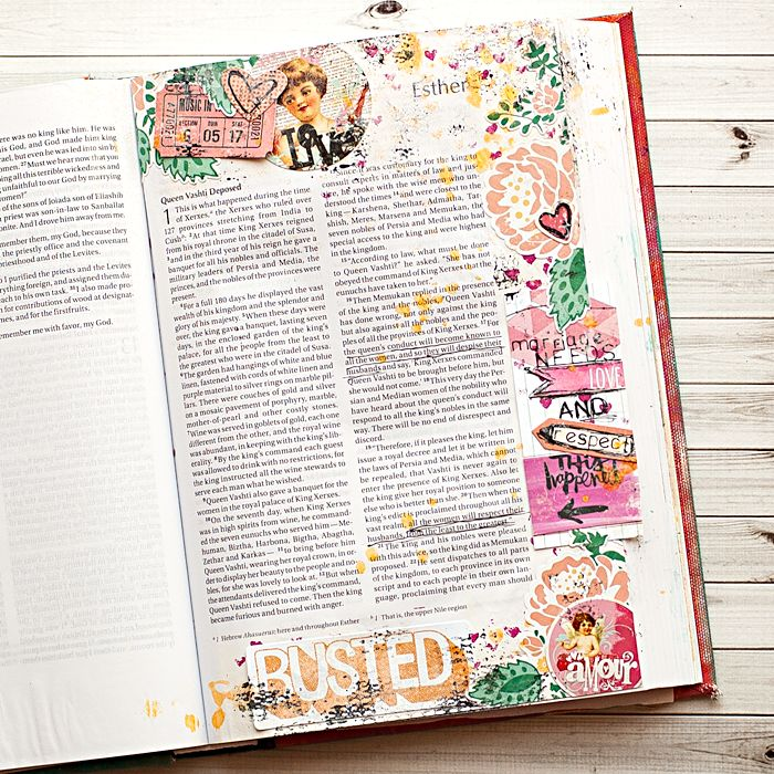 best way to add gesso to super thin paper used in Bibles