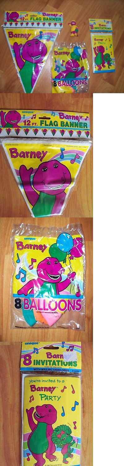 Complete Party Sets and Kits 26394: 4Pc Lot 1992 Unique Barney Dinosaur Birthday Multi-Color Party Goods Nos -> BUY IT NOW ONLY: $38.99 on eBay!