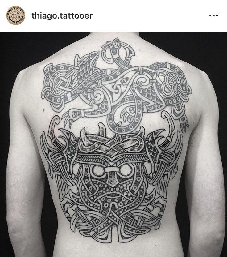 Viking tattoo / tatuagem viking / odin / fenrir