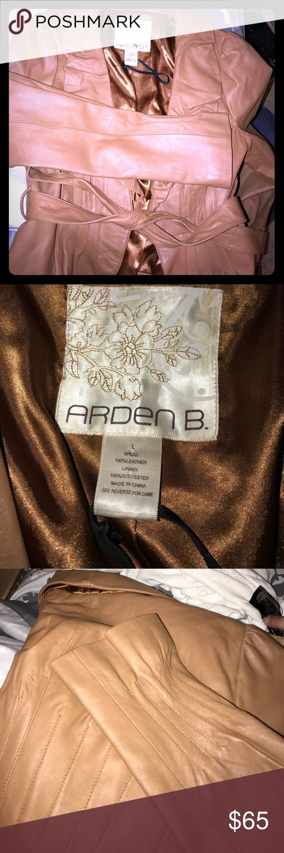 Arden B camel colored 100% leather jacket large Arden B camel colored 100% leather jacket large Arden B Jackets & Coats