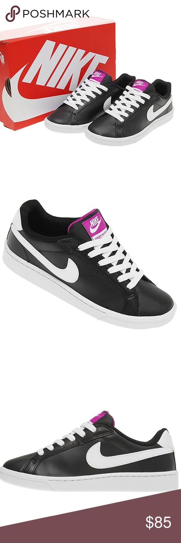 Nike COURT MAJESTIC Shoes Nike COURT MAJESTIC Shoes. ★Popular Nike Sneakers★  BLACK/WHITE, PURPLE, Product material: Synthetic leather/Synthetic fiber. Only wore a few times. Still have box. Nike Shoes
