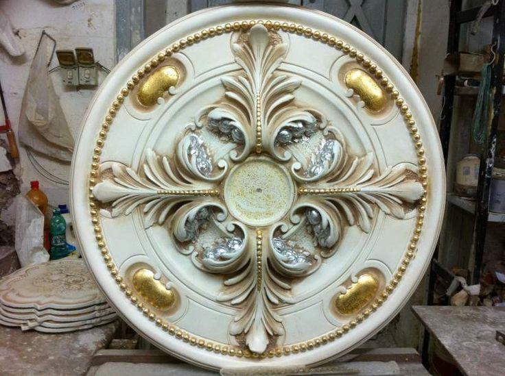 Gesso decorato oro e argento foglia 2133