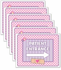 Doc McStuffins Birthday Party<br>Personalized Signs, 6 pack
