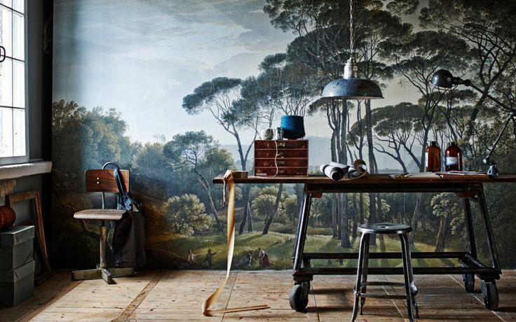 12 best behang images on Pinterest  Muurschilderingen