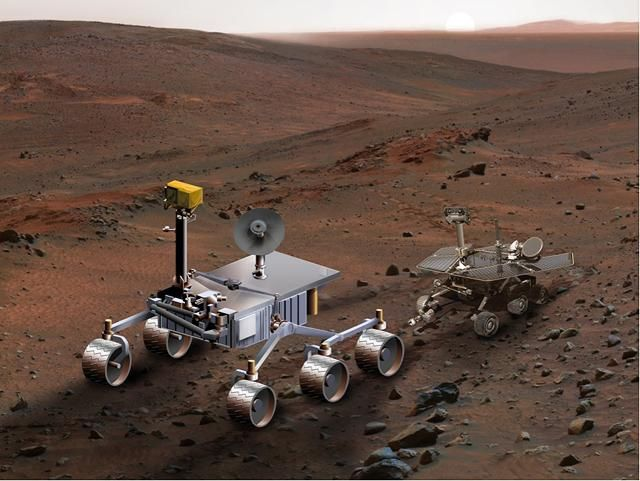 Size Comparison, Mars Science Laboratory and Mars Exploration Rover (Artist's Concept) #picoftheday