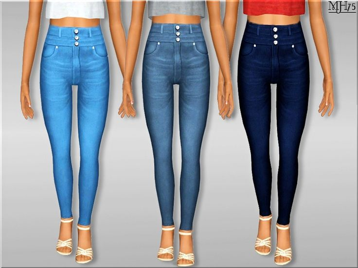 Sims 3 High Waisted Jean Outfit