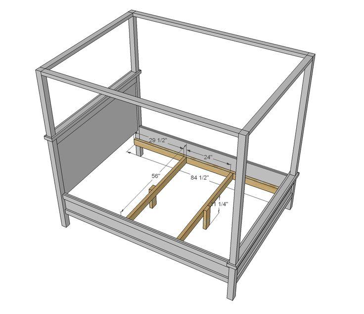 Ana White Build a Saving Alaska Farmhouse Canopy Bed