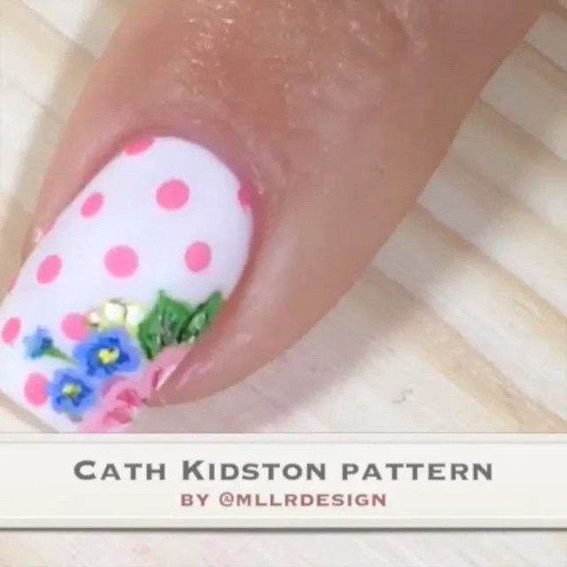 Nail DIY tutorial. By mllrdesign 13 months ago · www.mllrdesign.com Video of the Cath Kidston design I did with @nailsbydaniellet  Longer version and details on my blog and YouTube: Mllrdesign Music: Summer by Calvin Harris #girlynailsdeluxe #nails2inspire #craftyfingers #nailartoohlala #thenailartstory #hairandnailfashion #nailartofficial #nailitdaily #nailsandpolkadots #sgnailartpromote #nailfeature #nailartpromote #perfect_polishes #nailartwow #polishlicious #polishnsuch #thelacqueredlife…