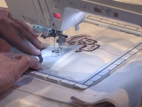 Watch Nancy Zieman demonstrate easy continuous machine embroidery.  http://www.nancysnotions.com/category/video+demos/continuous+machine+embroidery.do?extid=YT00038