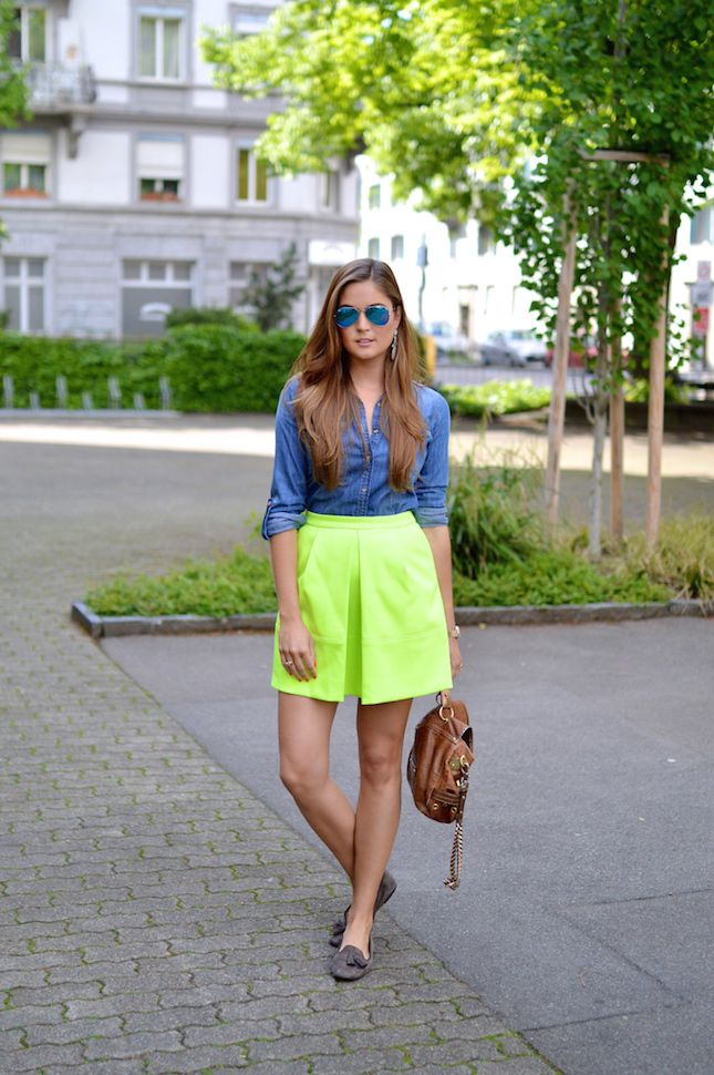 1000+ Ideas About Neon Yellow Skirts On Pinterest | Colored Skinny Jeans Colored Jeans And ...