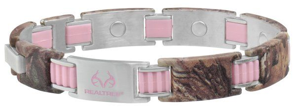 Realtree camo bracelet with Pinklink