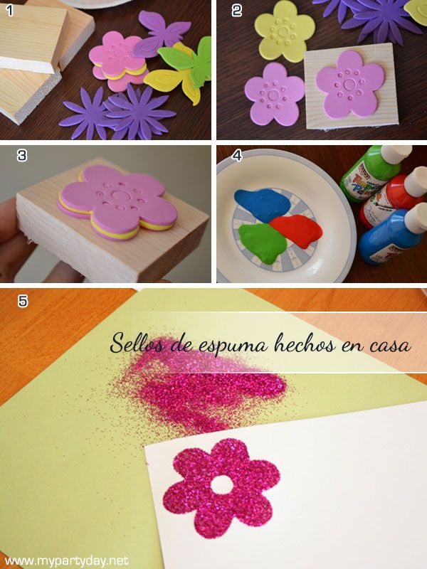 Custom Foam Stamps homemaded / Sellos de espuma personalizados hechos en casa