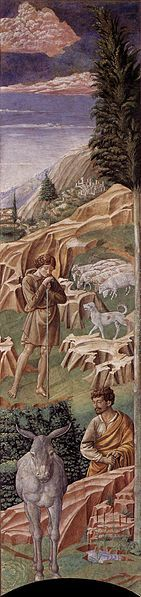 File:Benozzo Gozzoli - The Vigil of the Shepherds (right wall of the apse) - WGA10277.jpg