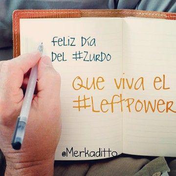 Feliz día del #zurdo #leftpowerday