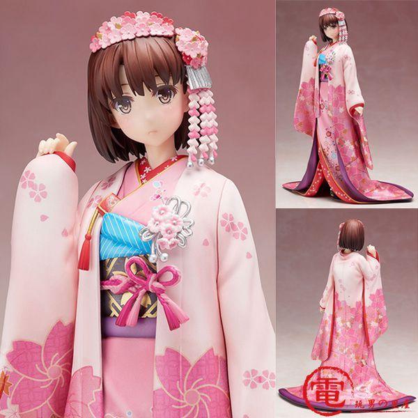 NEW hot 26cm Saenai Heroine no Sodatekata Katou Megumi kimono Action figure toys collection doll Christmas gift with box #Affiliate