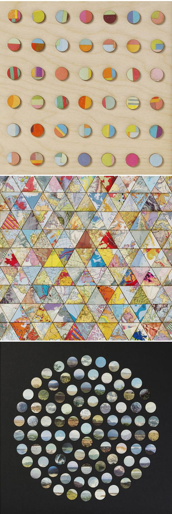 Amelia Coward - collage (vintage paper, maps, and skies!)