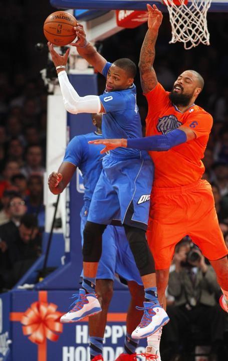 okc thunder   Oklahoma City Thunder v New York Knicks   Basketball Photos - Russ had a triple double!