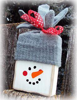Snowman Block - so cute!
