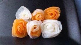 おせち料理ちらし寿司に☆紅白なますの薔薇