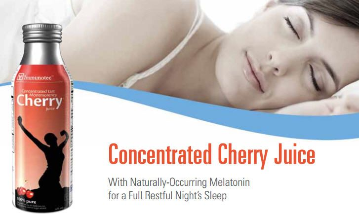 Concentrated Cherry Juice - 2-Pack  Concentrated Tart Montmorency Cherry Juice is an extract of the Montmorency cherry, one of the world's finest natural sources of melatonin, the same chemical that your brain makes to help you sleep. These cherries are also one of the richest known sources of a class of antioxidants (anthocyanins). Concentrated Tart Montmorency Cherry Juice makes it easy for you to enjoy the benefits of this extraordinary fruit every day all year long.