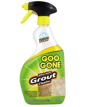 Goo Gone® Whole Home Grout Cleaner makes cleaning grout quick and easy. The innovative grout cleaning foam clings to the surface and penetrates the toughest dirt, mildew stains and grime on kitchen and bathroom tile. Goo Gone® Whole Home Grout Cleaner removes dirt build-up, set-in stains and hardened soils faster and easier than all-purpose, bathroom and tile cleaners.