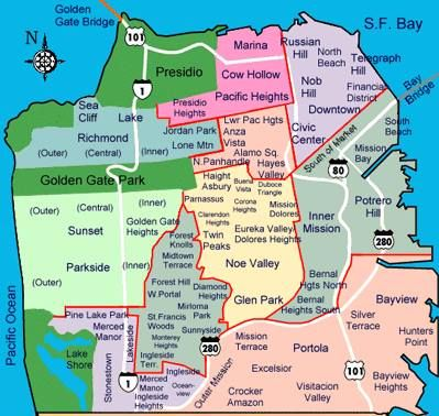 San Francisco by neighborhood. We lived in the Silver Terrace area off the 101. I went to Bayview Elementary and Portola Jr. High (for a short time) before moving to San Mateo.