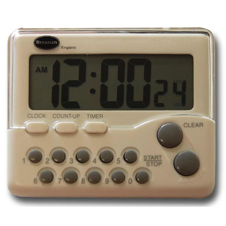 Digital timer featuring 9 hours 59 minutes 59 Seconds countdown and count up facility with memory function.