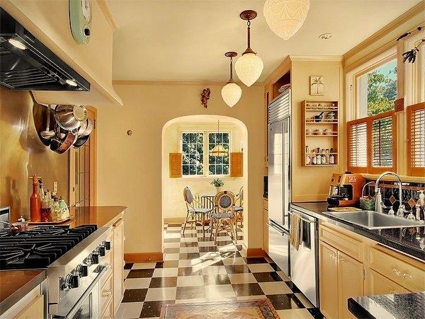 1930s style interior design home design for 1930s kitchen floor