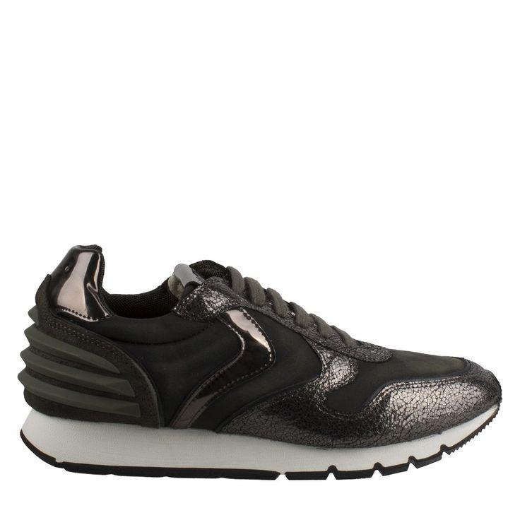 stijlvolle Voile Blanche Julia Power 001 2010437 03 9121 grijs/groen leer sneaker