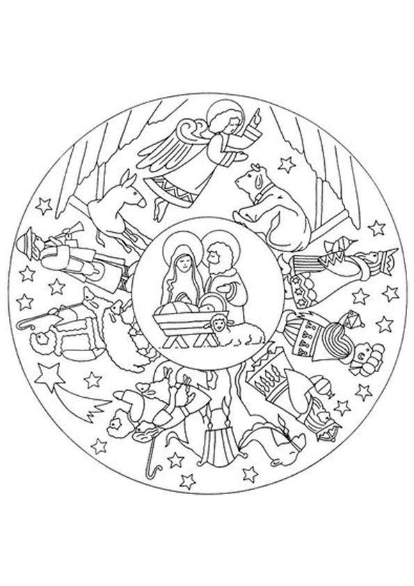 Kleurplaat Mandala kleurplaten (5239)   bijbelverhaal