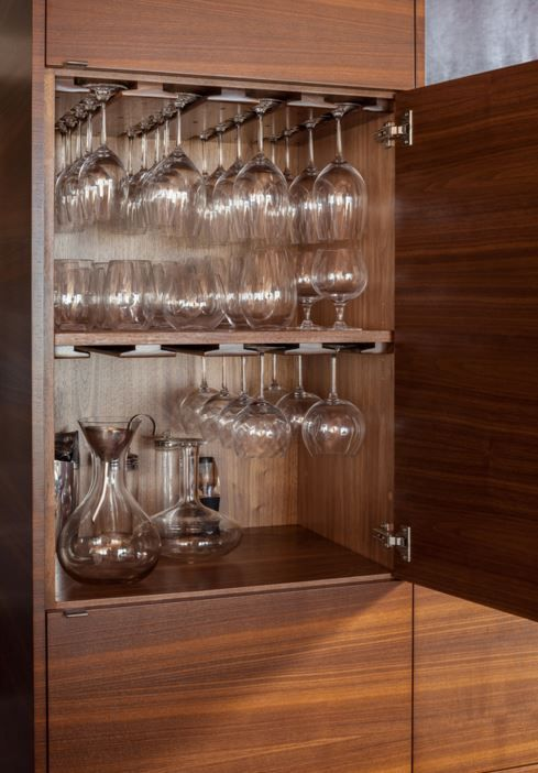 wine glasses cabinet near oven                                                                                                                                                                                 More