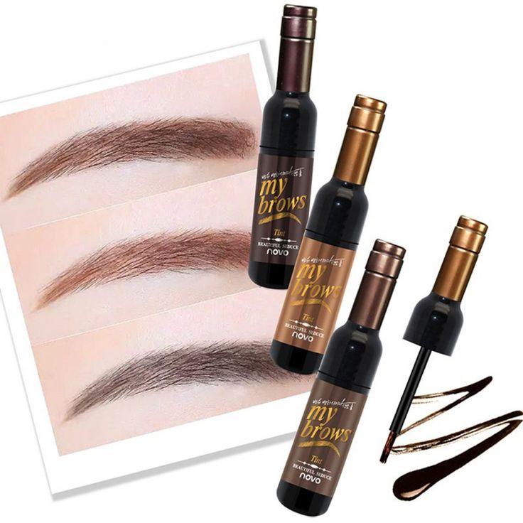 Long Lasting Eye Brow Makeup 3D Peel Off Eyebrow Gel + Eyebrow Stencil Natural Eyebrow Tint Tattoo Mascara #Affiliate