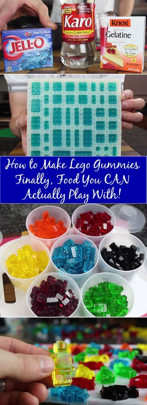 What do you get when you combine gummy candies with the world's favorite toy (don't quote me on that, but it must be true)? Lego bricks that won't actually cause an astounding amount of pain when you accidentally step on them! via /vanessacrafting/