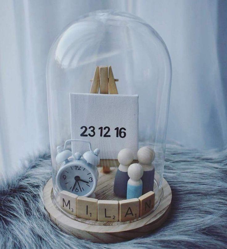Geschenk Geburt Baby Käse Glocke Käse Glocke Leinwand Scrabble Buchstaben Stei
