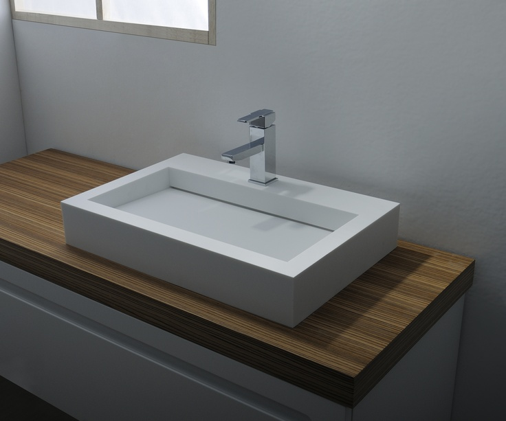 Solid free standing washbasin   Size:60x40x10(h)   Code:1003148