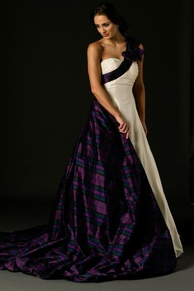 Mirren dress, part of the Joyce Young Tartan Spirit Wedding collection