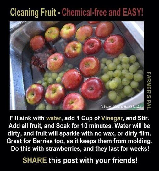This really works, did it all summer and the fruit lasted longer than 4 days.