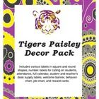 Paisley Classroom Decor Pack:  Includes various labels in square and round shapes, number labels for calling on students, attendance, full calendar, student and teacher's desk su...